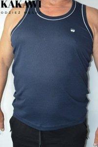 T-shirt na wąskie ramiączka granatowy nadwymiar.