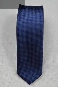 Krawat granatowy tłoczony