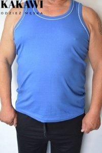 T-shirt na wąskie ramiączka niebieski nadwymiar.