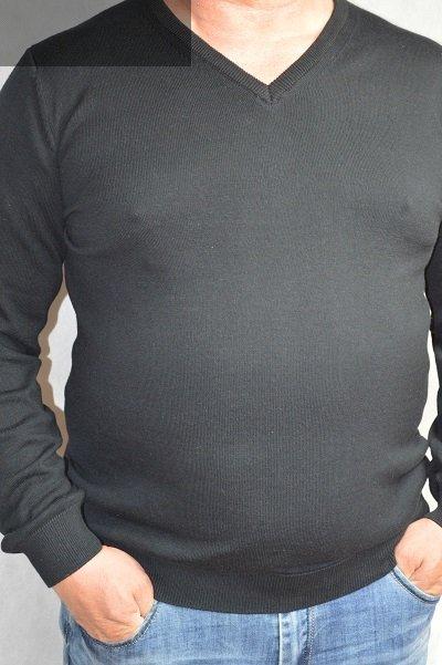 Sweter w serek nadwymiar czarny .