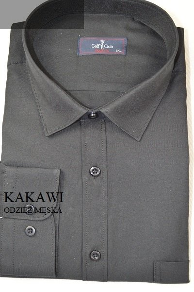 Koszula męska nadwymiar czarna.