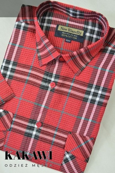 Koszula z kory czerwona w kratkę