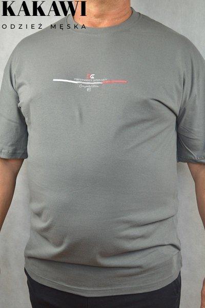 T-shirt duży oliwkowy