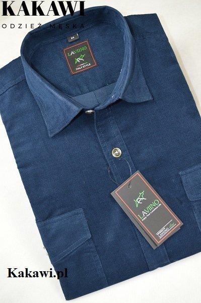 Koszula ze sztruksu turkusowa.