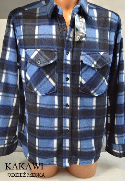 Koszula z polaru niebieska w kratkę