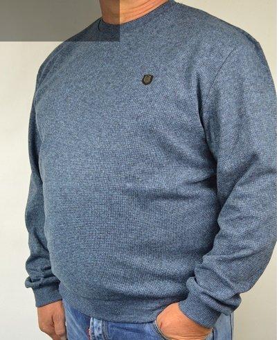 Bluza sportowa nadwymiar niebieska.
