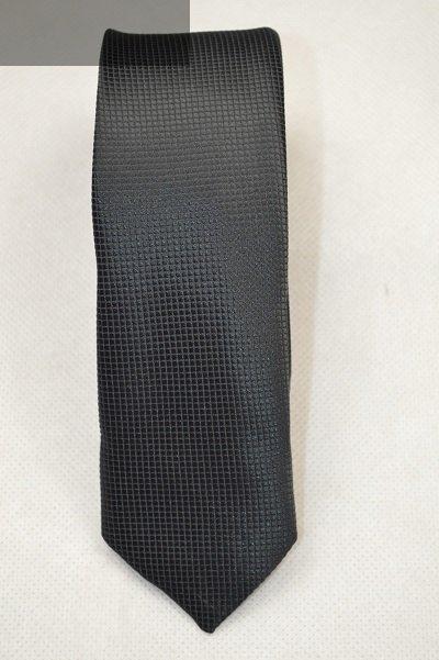 Krawat czarny tłoczony