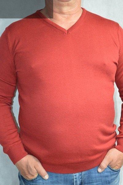 Sweter w serek nadwymiar czerwony.
