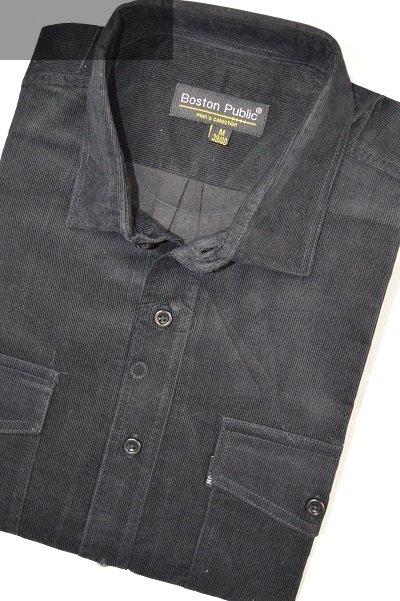 Koszula męska sztruksowa czarna.