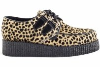 Buty Underground CREEPERS SINGLE SOLE Capucino Leopard Suede