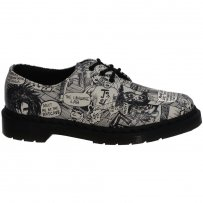 Półbuty Dr. Martens 1461 Black/White Party People Softy