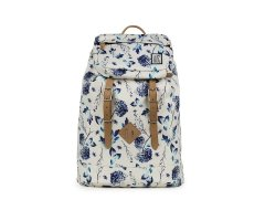 Plecak The Pack Society PREMIUM BACKPACK OFF WHITE BLUE FLOWER 181CPR703.72