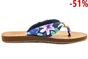 Klapki Wrangler FLIPPY HIPPY Blue Green Flower  WL141546-248