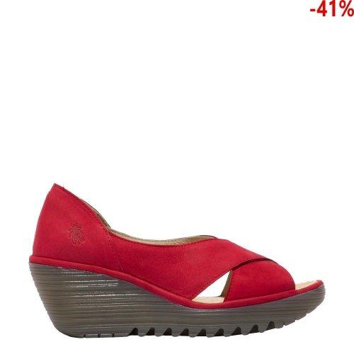 Sandały Fly London YOMA 307 Lipstick Red Cupido P501307003