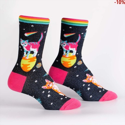 Skarpety damskie SOCK IT TO ME Space Cats W0262