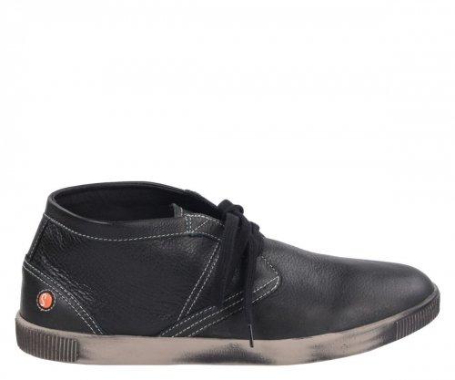 Półbuty Softinos TIM Black Smooth Lea P900220524