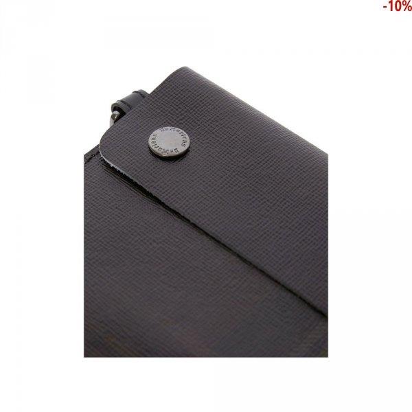 Kopertówka Dr. Martens TARTAN CLASH LEATHER POUCH White Black White Backhand Strawgrain Black Lamper AC819101