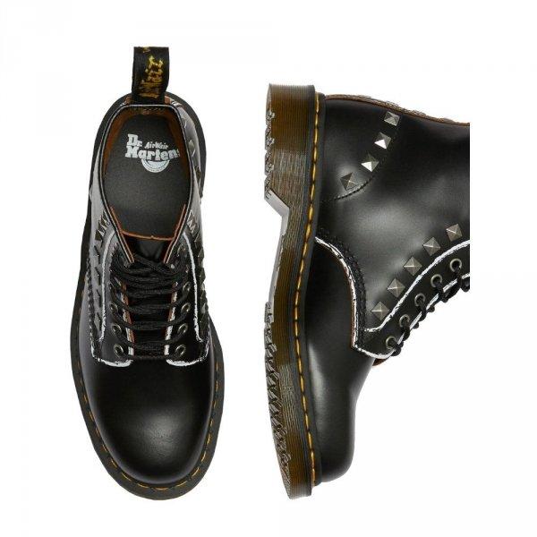 Buty Dr. Martens 1460 STUD Black Rolled Vintage Smooth 25202001
