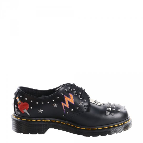 Półbuty Dr. Martens 1461 ROCK & ROLL Black Smooth 24206001