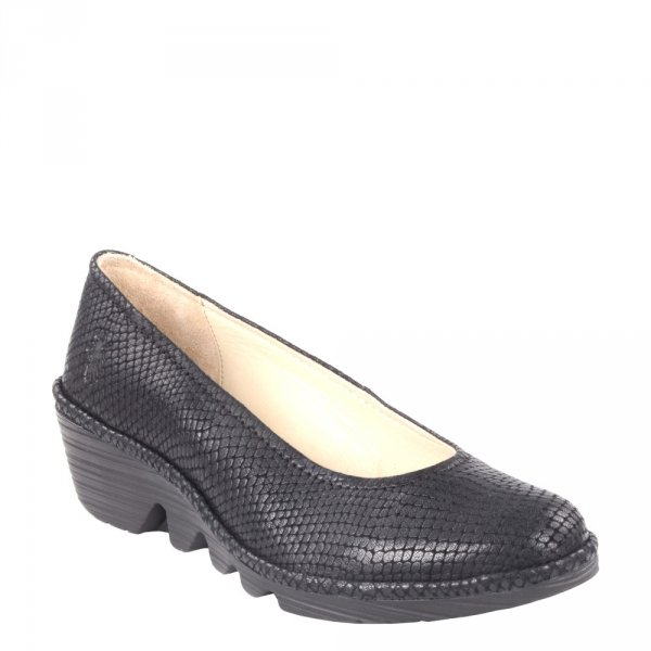 Czółenka Fly London PUMP Black Tenerife P500424105