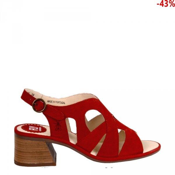 Sandały Fly London LARI 180 Lipstick Red Cupido P501180002
