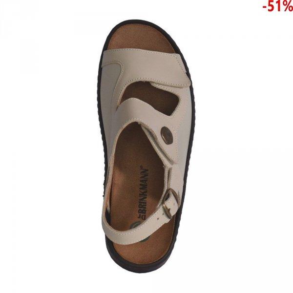 Sandały Dr. Brinkmann 710630 Beige Leder