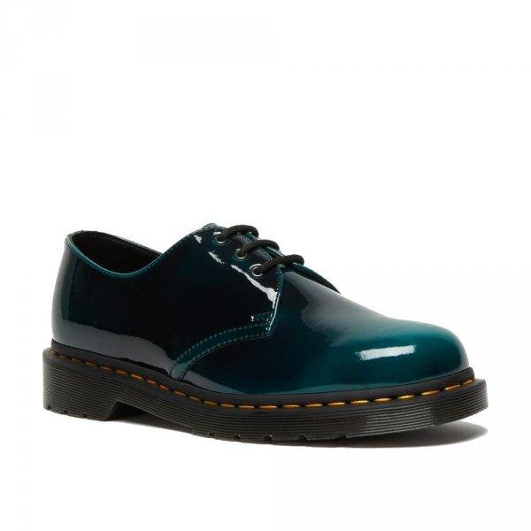 Buty Dr. Martens 1461 VEGAN Black Green Gloss Pull Up 26890431