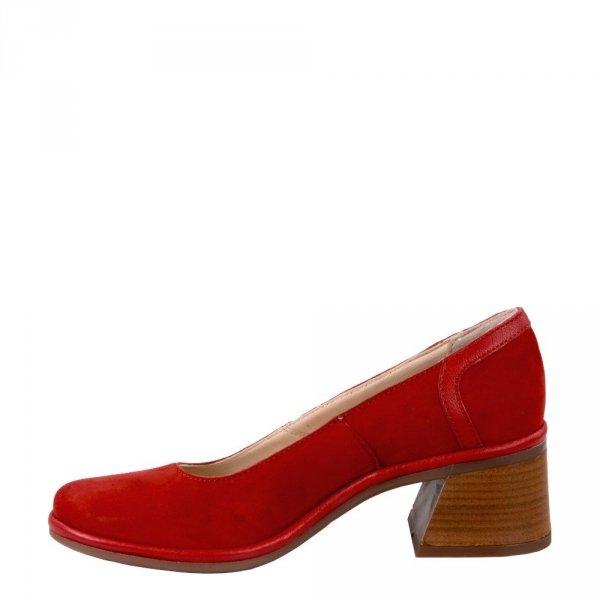 Czółenka Fly London LUNO188 Lipstick Red Cupido Mousse P501188001