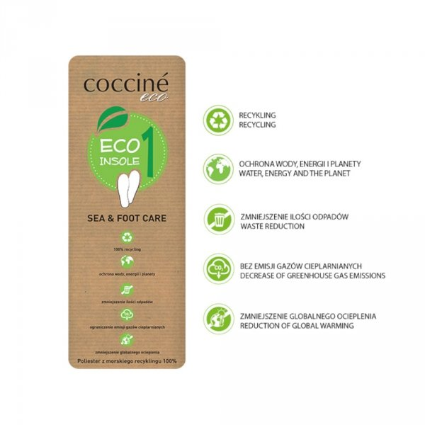 Wkładki Coccine ECO INSOLE 1 SEA&FOOT CARE