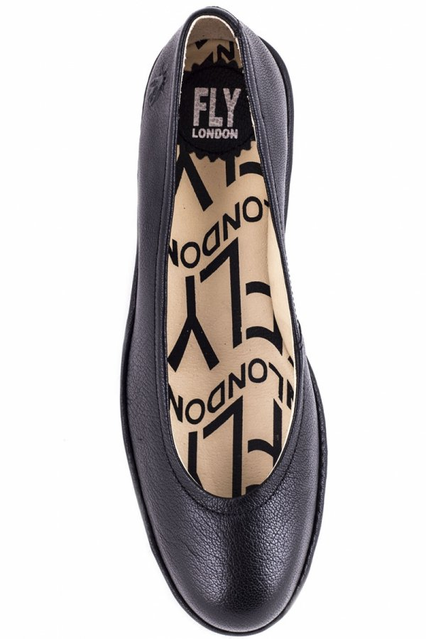 Czółenka Fly London PUMP Black Mousse