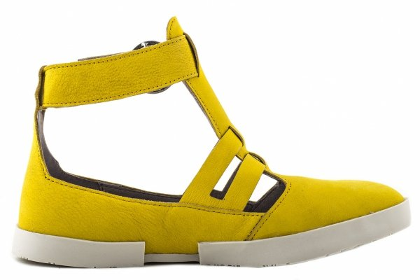 Sandały Fly London EDAN 275 Lemon OffWhite