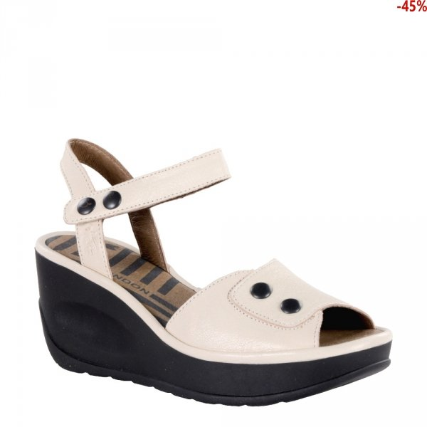 Sandały Fly London JEMI 969 OffWhite Mousse P500969001