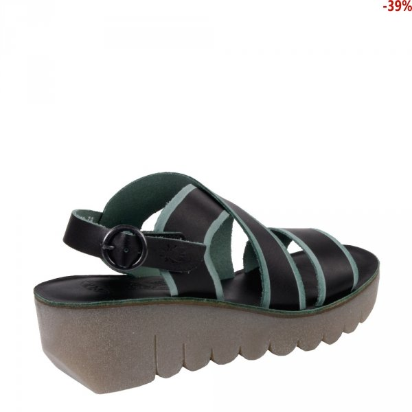 Sandały Fly London YAZE605 Black Green Malavella P144605000