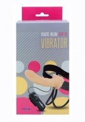 Proteza-REALISTIC HOLLOW STRAP ON VIBRATOR 8INCH