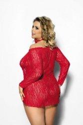 Alecto red chemise XXL+ ( czerwona halka )