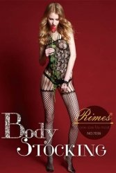Bielizna-Rimes Bodystocking One Size No,7036 BLACK