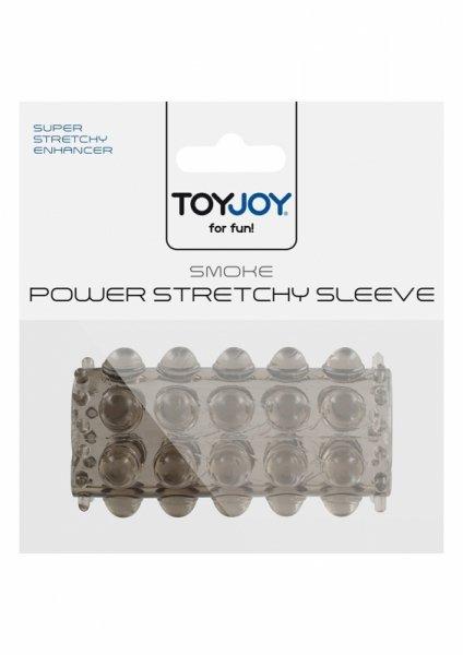 Stymulator-TOYJOY POWER STRETCHY SLEEVE SMOKE