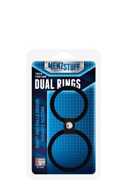 Pierścień-MENZSTUFF DUAL RINGS BLACK