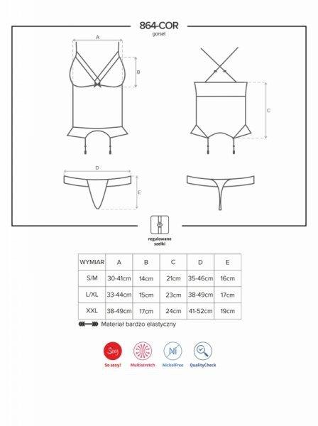 Bielizna-864-COR-1 gorset i stringi L/XL