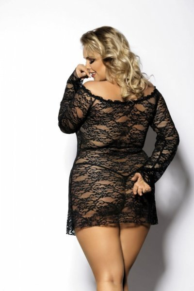 ORANGINA black chemise L+ ( czarna halka )