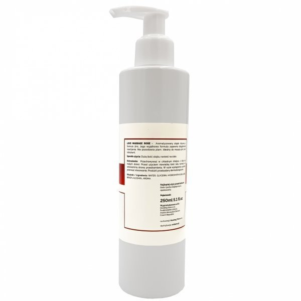 Żel do masażu i lubrykant w jednym Różany zapach 250ml
