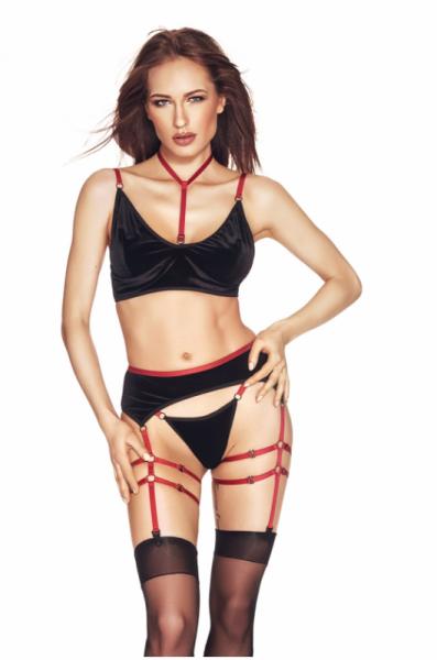 Riho 3pcs L/XL (biustonosz,string,pas/bra,string,garter belt)