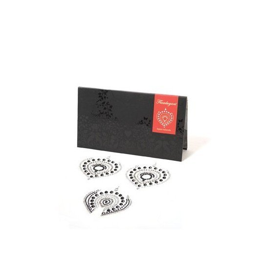 Bijoux Indiscrets - Flamboyant, srebrno-czarne