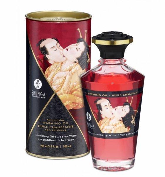 Shunga - Aphrodisiac Oil Sparkling Strawberry Wine 100 ml