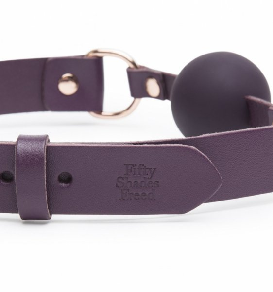 Fifty Shades Freed - Cherished Collection Leather Ball Gag