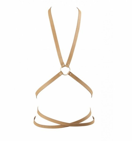 Bijoux Indiscrets - MAZE Multi-way Harness Brown