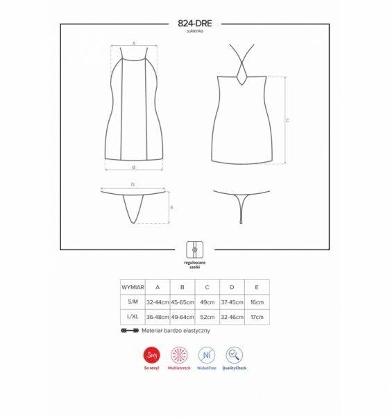 824-DRE-1 sukienka czarna L/XL