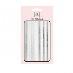 Nail Stickers Elastic Stripe SILVER - Mistero Milano