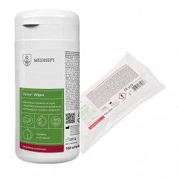SET - MEDISEPT Duo Wipes - Desinfektionstücher in PE-Spenderdose 100 Stück + 100 Stück Desinfektionstücher