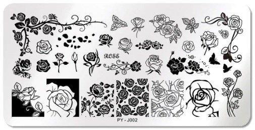 Stamping Schablone PY - J002